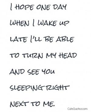 wake up together