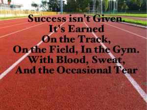Inspirational quote for all athletes :)