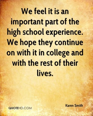 high school experience quotes