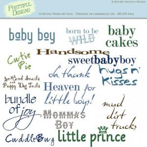 Baby Boy Sayings Digital Scrapbooking Clip Art by PrettifulDesigns, $2 ...