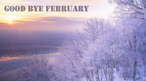 Welcome March Goodbye February 2015