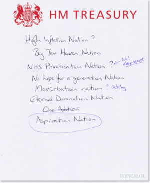 Notepaper obtained for HuffPost UK Comedy by David Schneider and ...