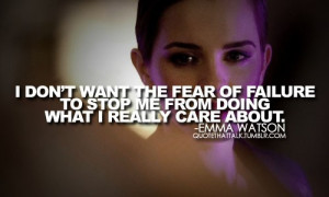 emma watson fear quotes