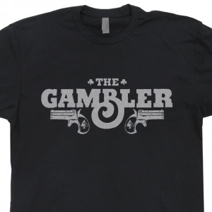 The Gambler T Shirt Poker Kenny Rogers Texas Hold 'Em Las Vegas Casino ...