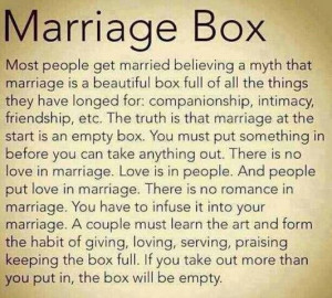 Marriage as i see it for real..