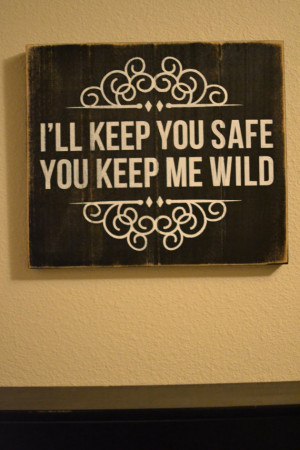 Wood Sign Quote -