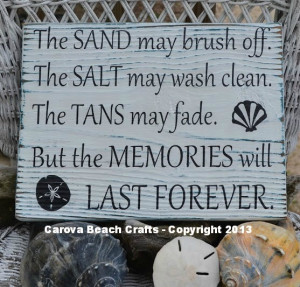 Beach Decor, Salt May Brush Off Tans May Fade Rustic Beach Sign Beach ...