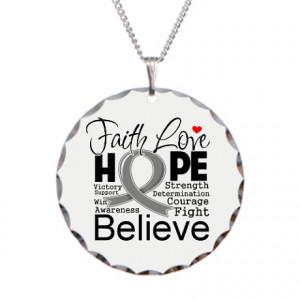 Brain Cancer Gifts > Brain Cancer Jewelry > Faith Hope Brain Cancer ...