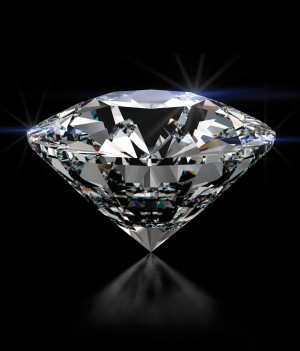 some eight in every 10 rough diamonds and five in