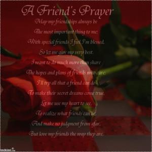 Friends Prayer, May My Friendship Always Be….