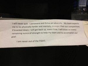 This quote from a Navy Seal is in the locker of Dallas tight end ...