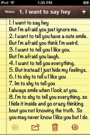 Shy Quotes About A Crush To afraid and too shy to tell you these ...