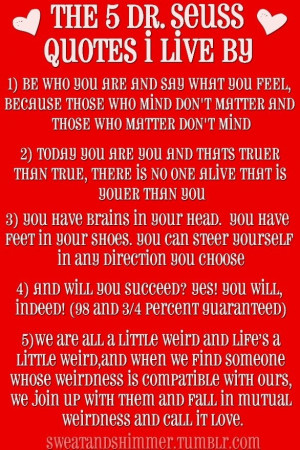 the 5 Dr Seuss quotes to live by
