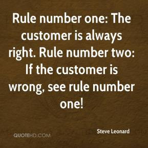 Customer Always Right Quote