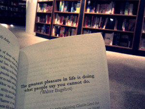 ... Pleasure Is Life Is Doing What People Say You Cannot Do - Book Quote
