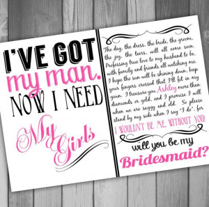 ... Wedding Bridesmaid Will You Be My Maid Of Honor on Etsy, $15.00