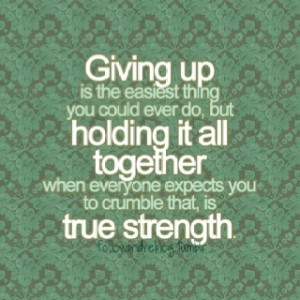 Quote on Giving up