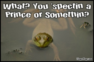 Glitter Graphic Comment: Expecting A Prince Funny Frog Quote