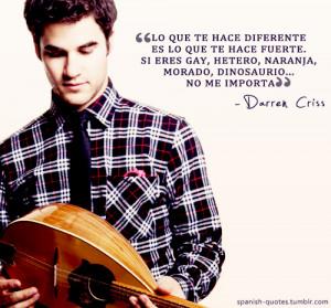 En Espanol Darren Criss Darren Criss Quotes Espanol Spanish Quotes Q