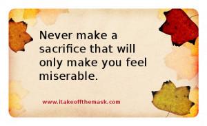 of love and sacrifice