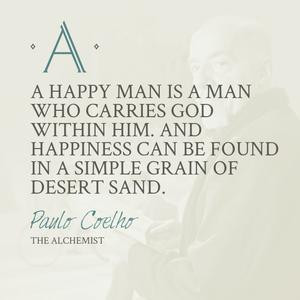 ... him.And happiness can be found in a simple grain of desert land