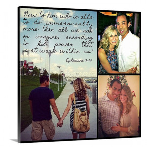 Couples photos collage Canvas Best friend Siblings Custom Canvas Photo ...