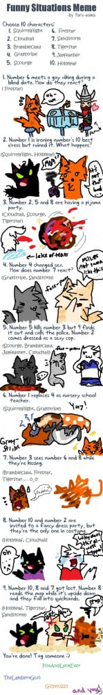 Funny Situation's Meme: Warrior Cats by runtyiscute1999
