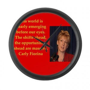 2016 Gifts > 2016 Living Room > carly fiorina quote Large Wall Clock