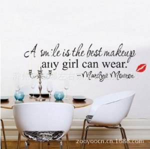 -best-makeup-any-girl-can-wear-marilyn-monroe-wall-quote-wall-sayings ...