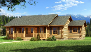 One Story Log Cabin House Plans
