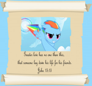 MLP Christian quotes Rainbow Dash by GennadyKalugina