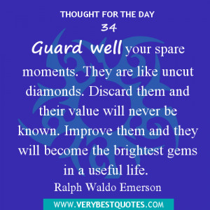 Thought For They Day - Spare moment quotes, time management quotes