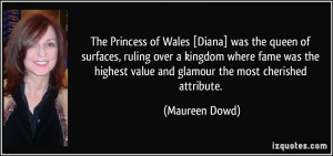 The Princess of Wales [Diana] was the queen of surfaces, ruling over a ...