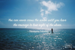 ... Quotes, Love Quotes, Adventure On Gidsi, Christopher Columbus, Ocean