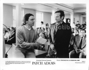 Patch Adams Photo director Tom Shadyac, Robin Williams