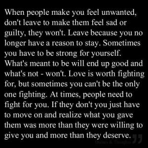 Unwanted feeling!