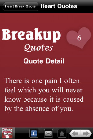... You Will Never because it is caused by the absence of you ~ Break Up