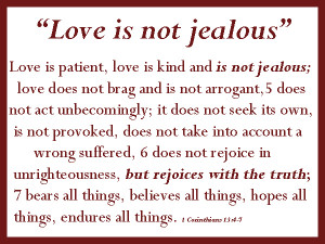Where was jealousy in the bible?
