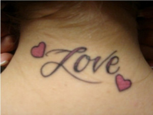Tattoo Quotes Awesome Love One Word Tattoos For Neck Best Two