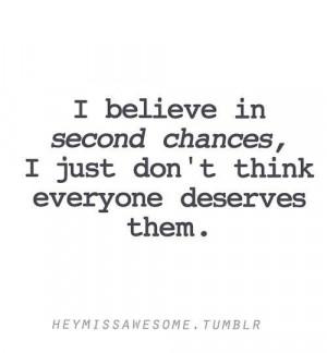 Quote second chances