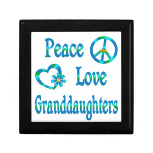 Peace Love Granddaughters Gift Box