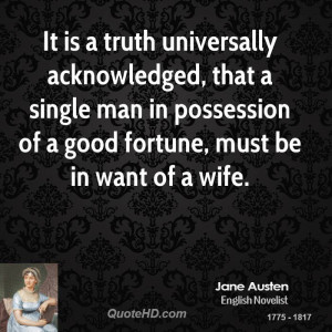 Truth Universally Acknowledged That Single Man