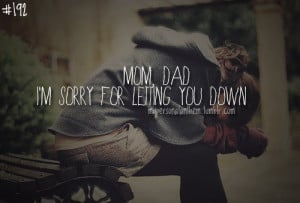 192. Mom, Dad. I'm sorry for letting you down..