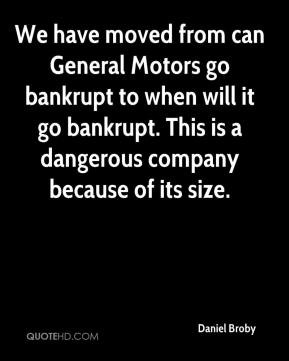 We have moved from can General Motors go bankrupt to when will it go ...
