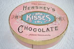 chocolate, hersheys, kisses, pink