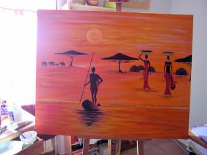 tableau africain de cathou