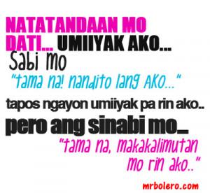 Broken Heart Quotes Tagalog And Sayings