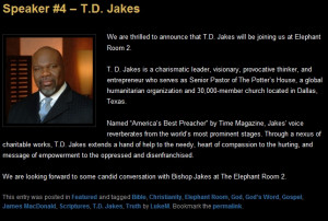 Bishop T,D,Jakes quotes of life