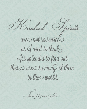 Anne of Green Gables April: Kindred Spirits Printable