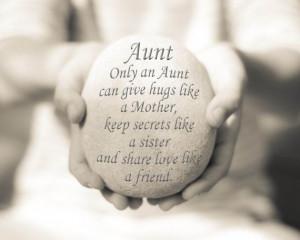 ... Her, Aunt Quote Print, Aunt Print, Inspirational Quote, Auntie Quote